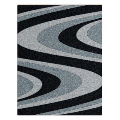 Orlando Azriel Modern Rug, 80x150cm, Black
