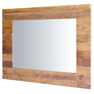 Independence Reclaimed Timber Frame Wall Mirror, 108cm