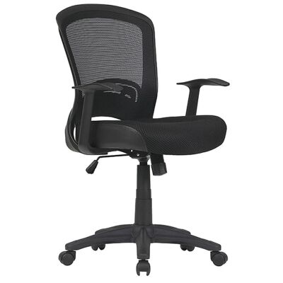 Intro Fabric Task Office Chair, Black
