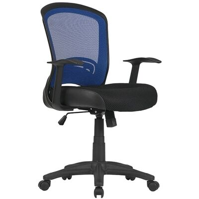 Intro Fabric Task Office Chair, Blue / Blak