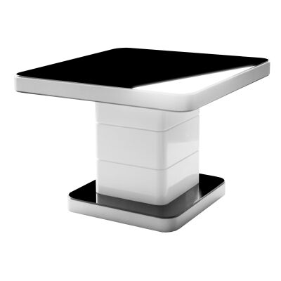 Iphone Glass Topped Metal Lamp Table