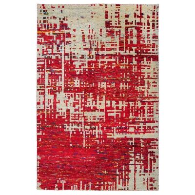 Issey Handknotted Wool & Silk Rug, 290x200cm