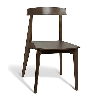 Izu Commercial Grade Solid Timber Dining Chair, Walnut