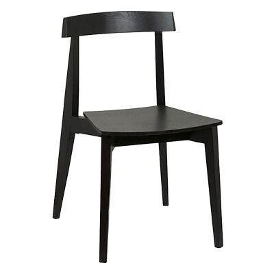 Izu Commercial Grade Solid Timber Dining Chair, Black