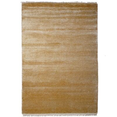 Indo Napal Hand Knotted Wool & Banana Silk Rug, 80x350cm, Beige