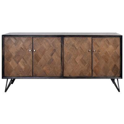 Anris Wooden 4 Door Sideboard, 170cm