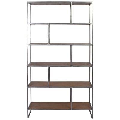 Dyne Ashwood & Iron Display Shelf, 100x189cm