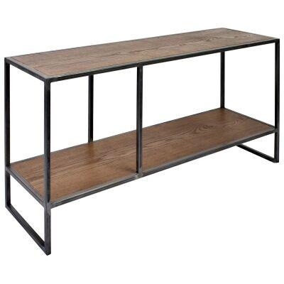 Dyne Ashwood & Iron Display Shelf, 100x52cm