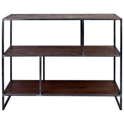 Dyne Reclaimed Fir & Iron Display Shelf, 100x86cm