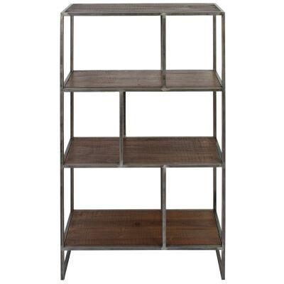 Dyne Reclaimed Fir & Iron Display Shelf, 70x120cm