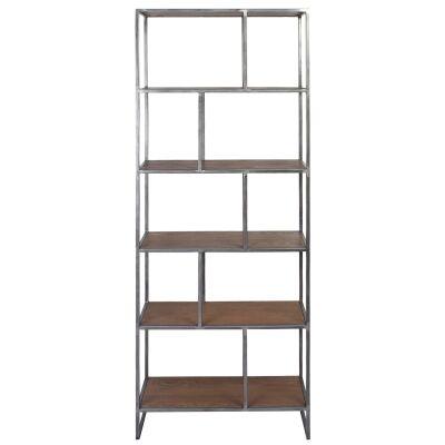Dyne Ashwood & Iron Display Shelf, 70x189cm
