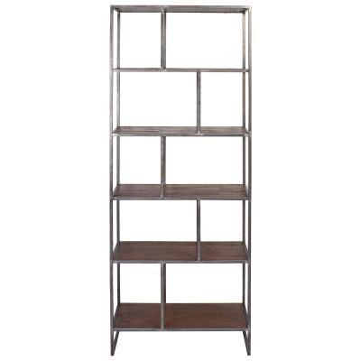 Dyne Reclaimed Fir & Iron Display Shelf, 70x189cm