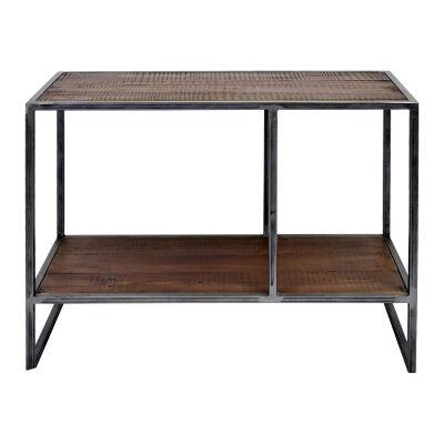 Dyne Reclaimed Fir & Iron Display Shelf, 70x52cm