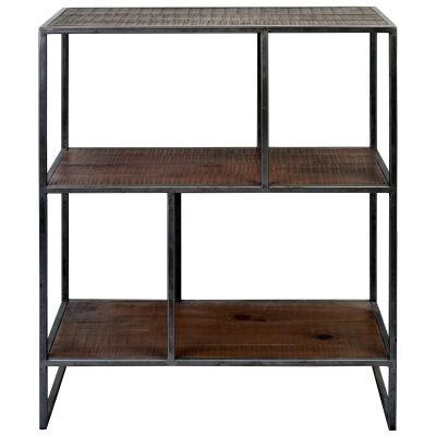 Dyne Reclaimed Fir & Iron Display Shelf, 70x86cm