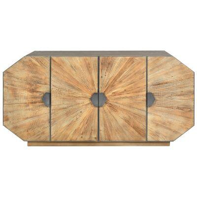 Birtinya Reclaimed Timber & Metal 4 Door Sideboard, 180cm