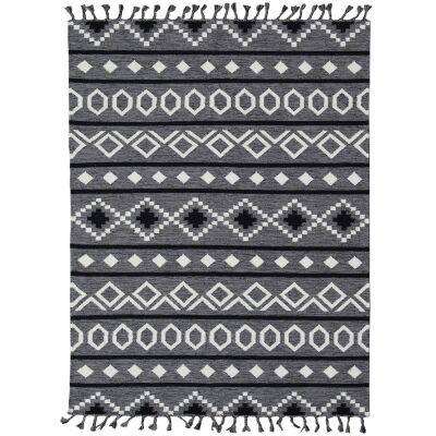 Artifact Handwoven Wool Rug , 190x280cm, Grey