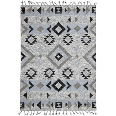 Artifact Handwoven Wool Rug , 160x230cm, Silver