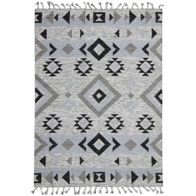 Artifact Handwoven Wool Rug , 190x280cm, Silver