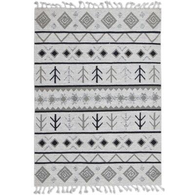 Artifact Handwoven Wool Rug , 190x280cm, Ivory