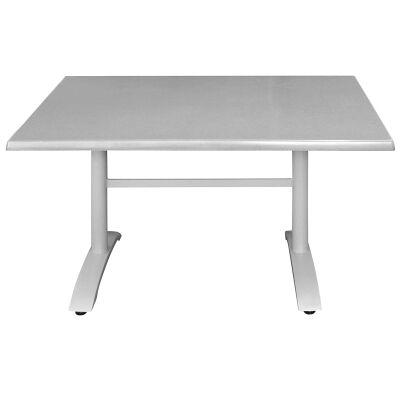 Henry Commercial Grade Dining Table, 120cm, Granite / Silver