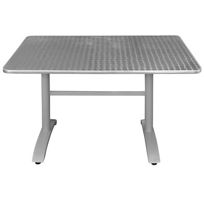 Henry Commercial Grade Dining Table, 120cm, Silver