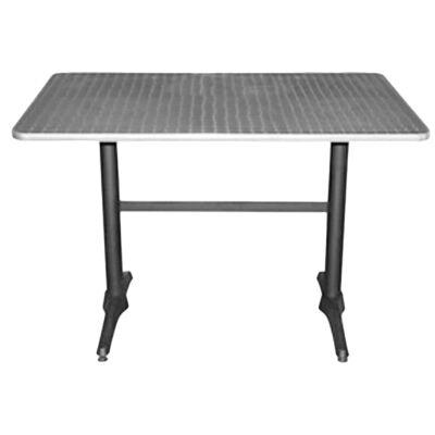Mestre Commercial Grade Dining Table, 120cm, Silver / Black