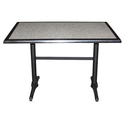 Mestre Commercial Grade Dining Table, 120cm, Pebble / Black