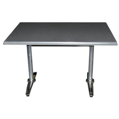 Mestre Commercial Grade Dining Table, 120cm, Granite / Silver