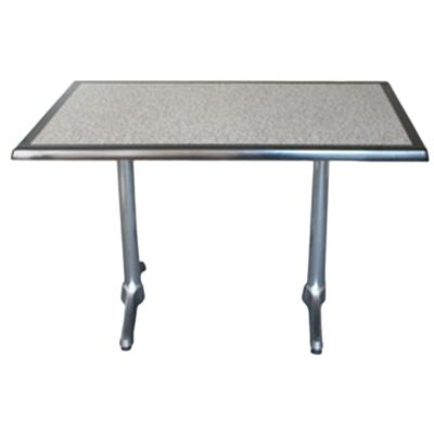 Mestre Commercial Grade Dining Table, 120cm, Pebble / Silver