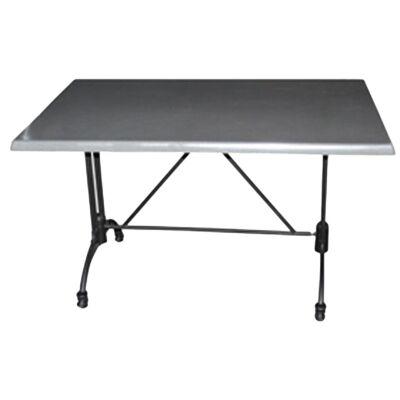 Trieste Commercial Grade Dining Table, 120cm, Granite / Black