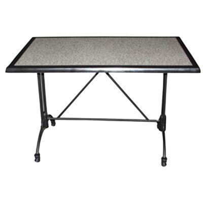 Trieste Commercial Grade Dining Table, 120cm, Pebble / Black
