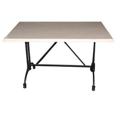 Trieste Commercial Grade Dining Table, 120cm, Travertine / Black