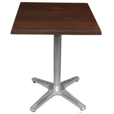 Amolaro Commercial Grade Square Dining Table, 60cm, Dark Walnut