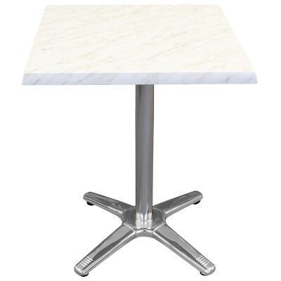 Amolaro Commercial Grade Square Dining Table, 60cm, Light Marble