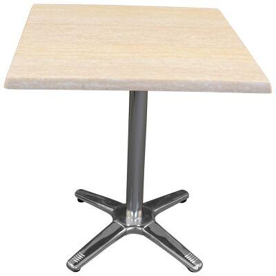 Amolaro Commercial Grade Square Dining Table, 60cm, Travertine