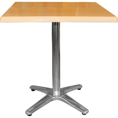 Amolaro Commercial Grade Square Dining Table, 80cm, Beech