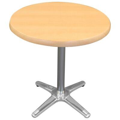 Amolaro Commercial Grade Round Dining Table, 80cm, Beech