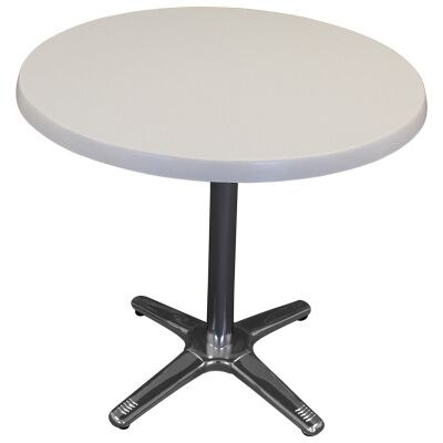 Amolaro Commercial Grade Round Dining Table, 80cm, White