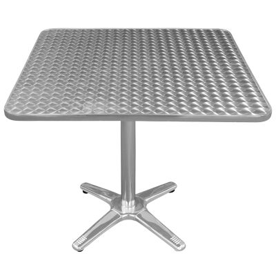 Amolaro Commercial Grade Square Dining Table, 80cm, Silver
