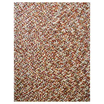 Jelly Bean Wool Felt Ball Rug, 170x120cm, Autumn