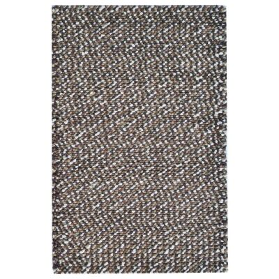 Jelly Bean Handwoven Felted Wool Rug, 170x120cm, Brown
