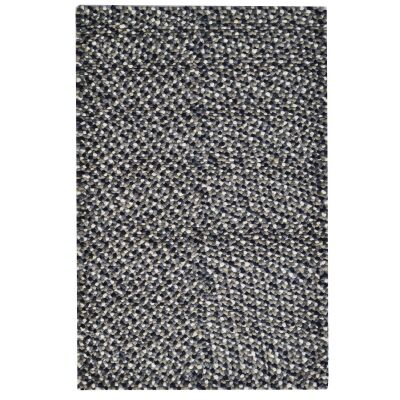 Jelly Bean Handwoven Felted Wool Rug, 230x160cm, Charcoal