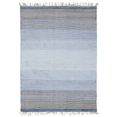 Ombre Handwoven Wool Rug, 230x160cm, Blue