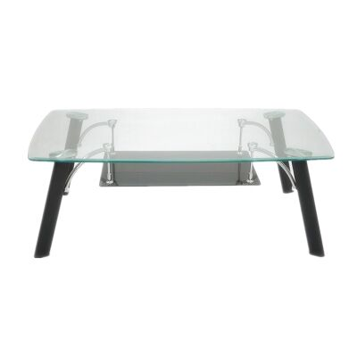 Jolly Glass Topped Metal Coffee Table, 120cm