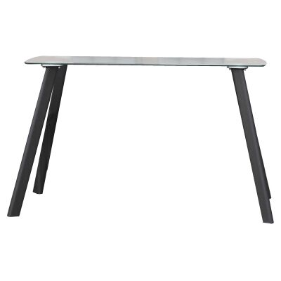 Jolly Glass Topped Metal Dining Table, 130cm