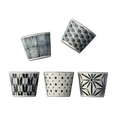 Komon 5 Piece Porcelain Japanese Tea Cup Set