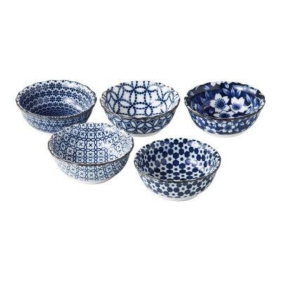 Nami 5 Piece Porcelain Dipping Bowl Set