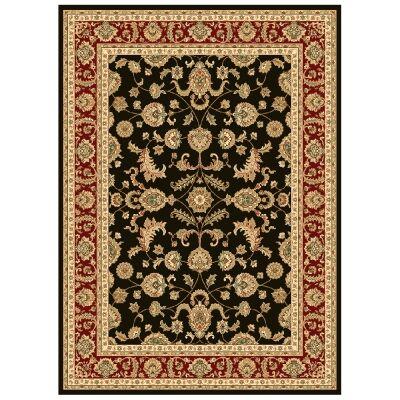 Julian Tait Turkish Made Oriental Rug, 230x160cm, Black / Red