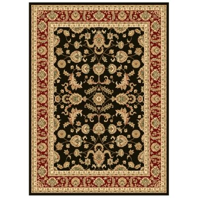 Julian Tait Turkish Made Oriental Rug, 290x200cm, Black / Red