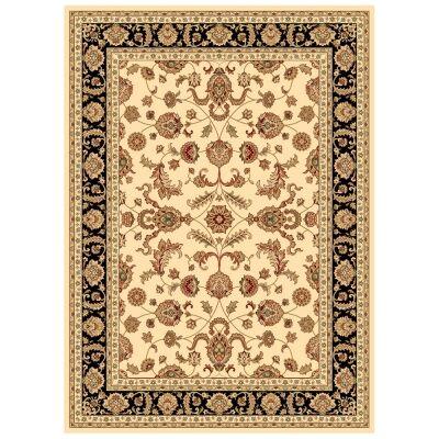 Julian Tait Turkish Made Oriental Rug, 230x160cm, Cream / Black